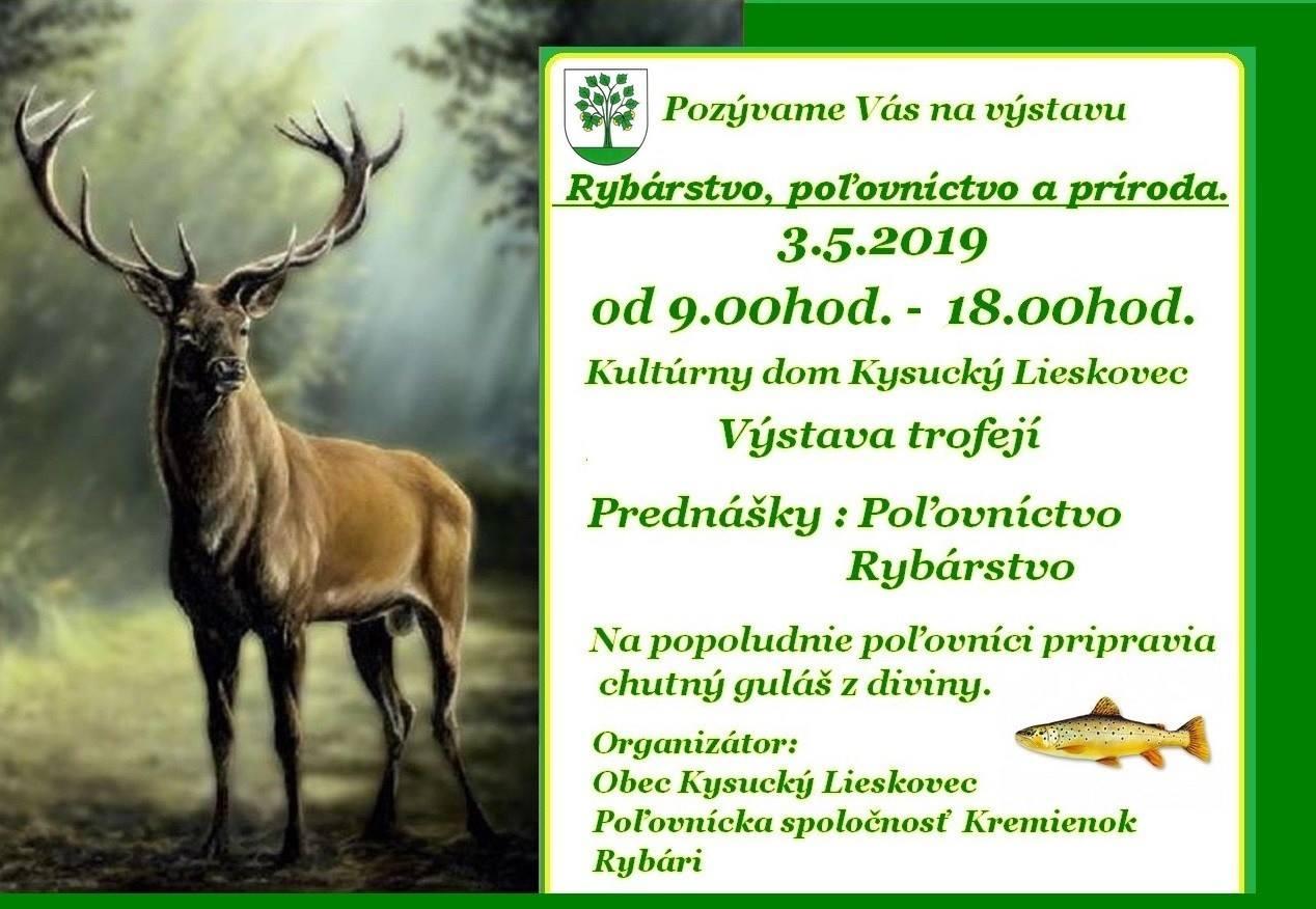 Rybárstvo, poľovníctvo a príroda, výstava trofejí