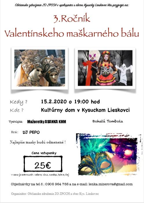 3. Ročník Valentínskeho maškarného bálu