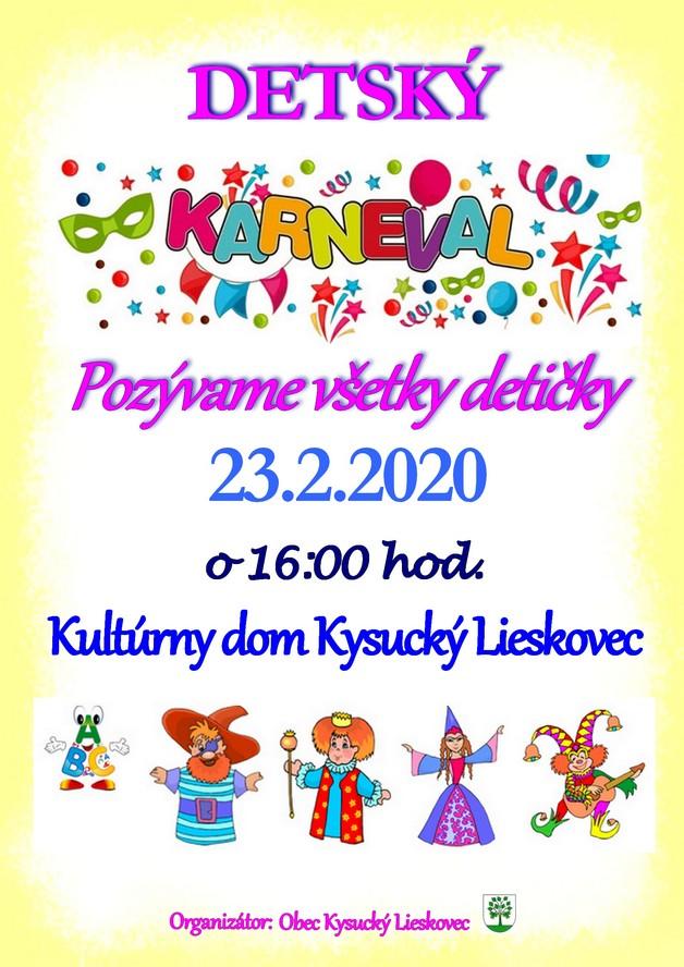Pozývame Vás na detský karneval