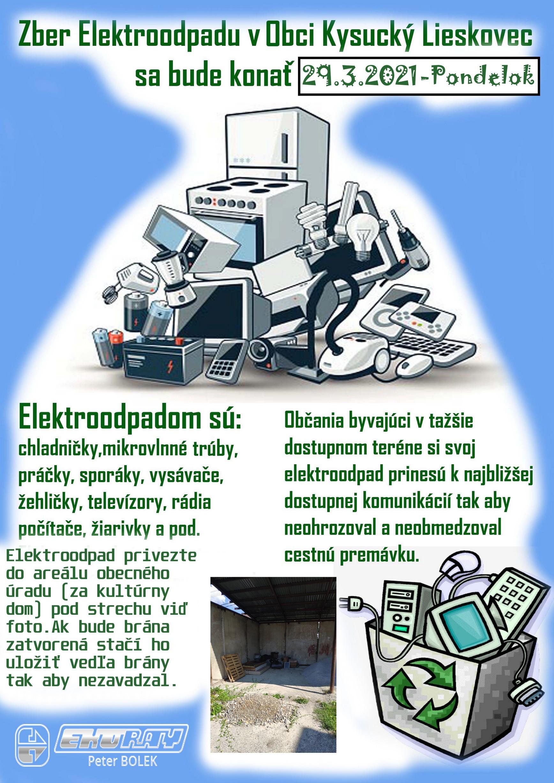 Zber Elektroodpadu 29.3.2021