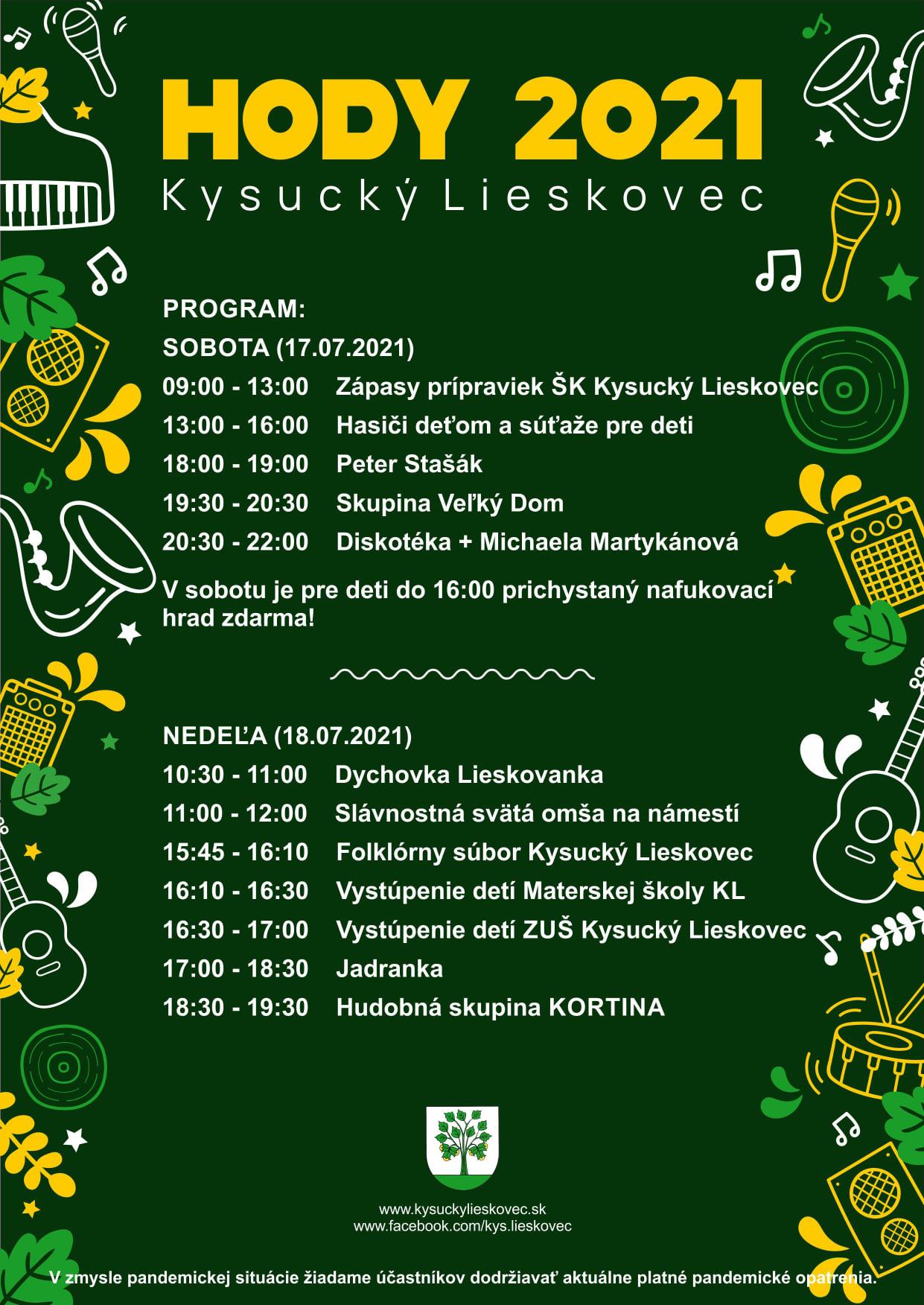 Hodové slávnosti 2021 Kysucký Lieskovec