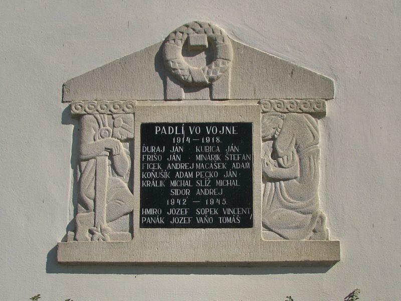 Pamätná tabuľa padlých vo vojne