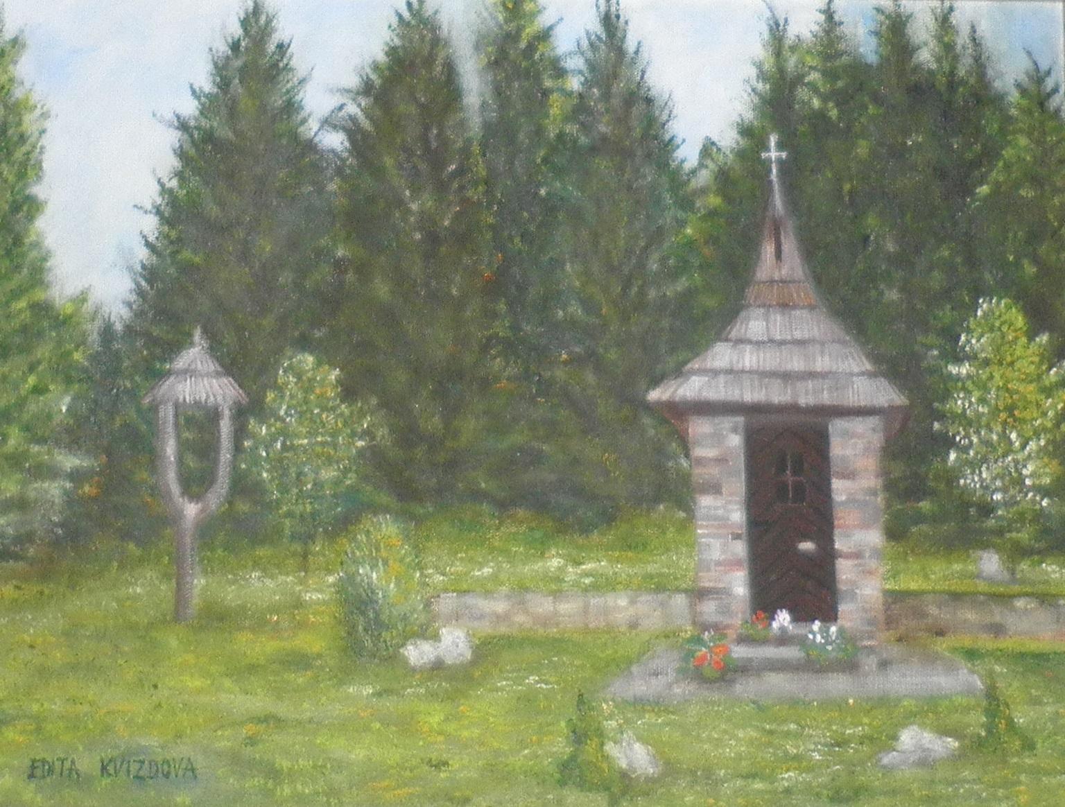 Umelecká maľba kaplnky na Rovniach
