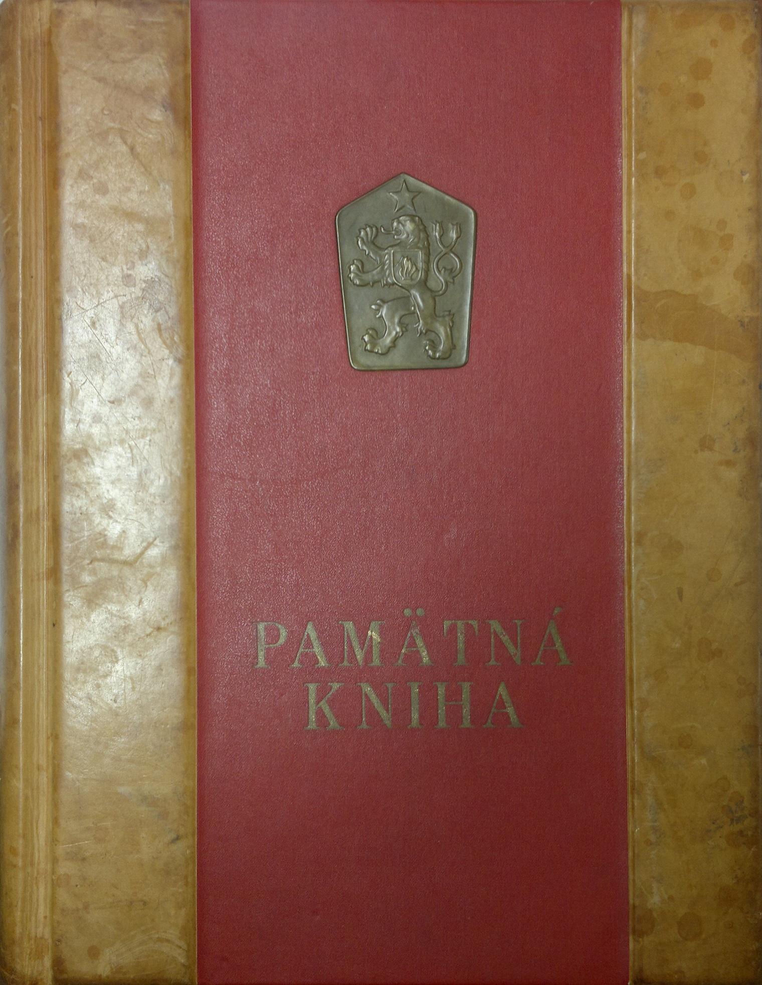 Obal pamätnej knihy obce