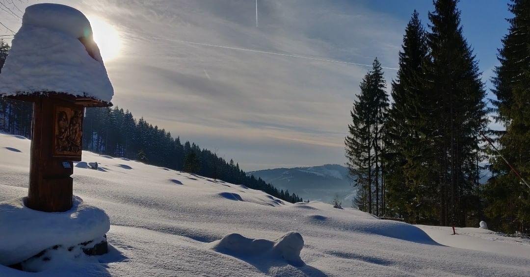 Krížová cesta v zime